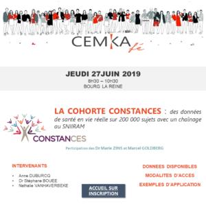 Affiche Cohort Constances de Cemka